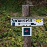 Burgbach-wasserfall-sign, Schwarzwald, Germany