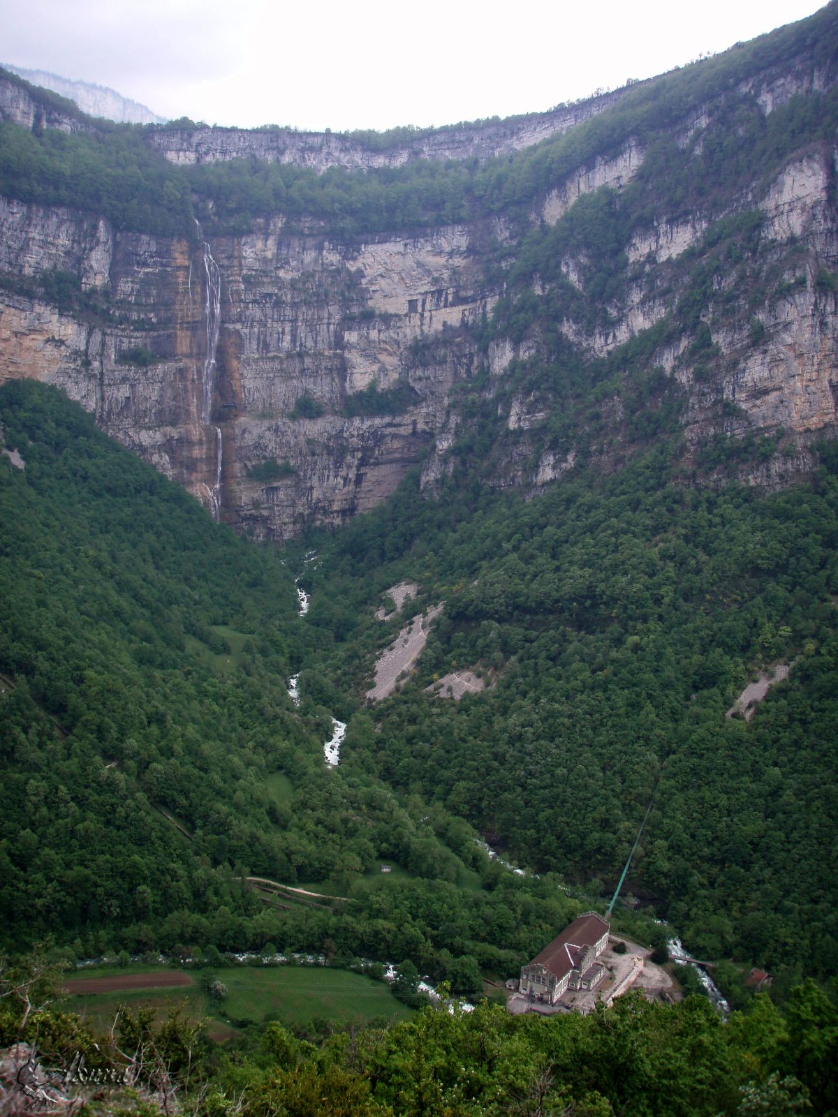 Fourth Highest waterfall France: Cascade du Moulin Marquis