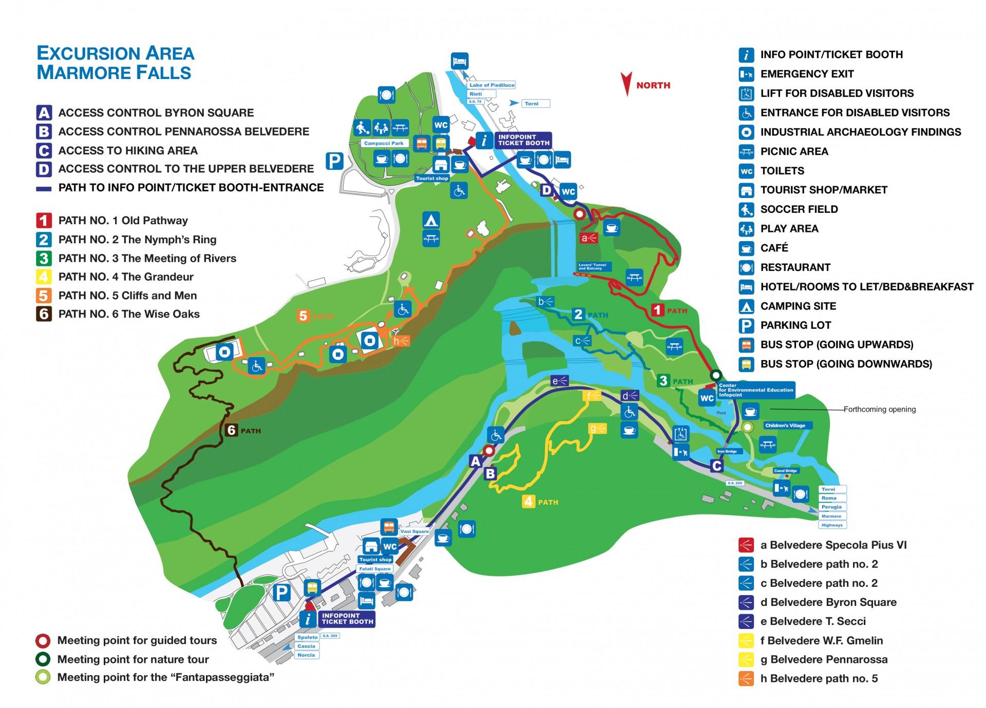 Cascata delle Marmore - map