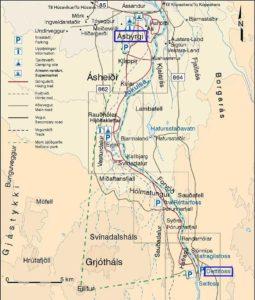 Dettifoss-map