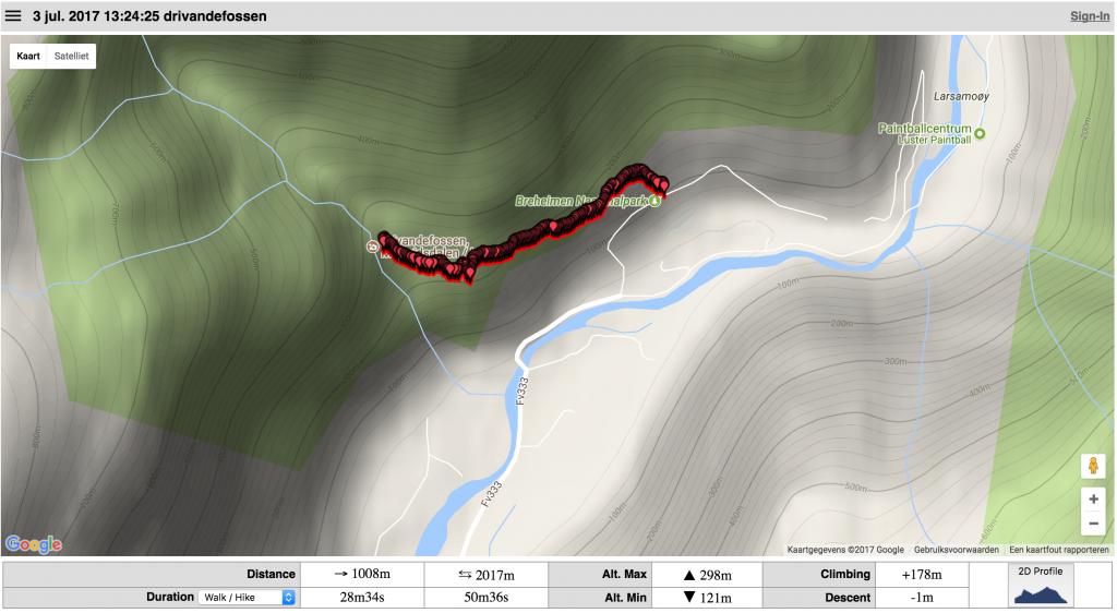 Drivandefossen-walk-gpx