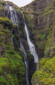 Highest waterfall Iceland: Glymur