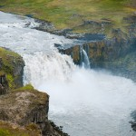 Waterfall in Iceland: Hafragilsfoss