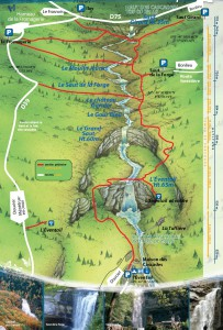 Cascades du Herisson-walking map
