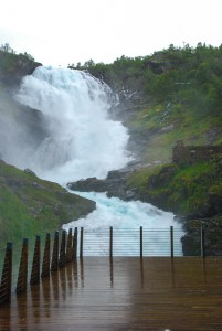 Kjosfossen - very powerful waterfall