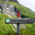 Kvanndalsfossen-sign