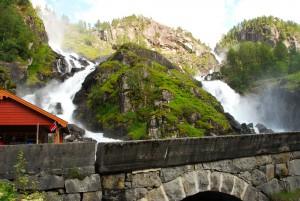 Låtefossen - most beautiful waterfall in Norway