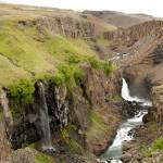 Waterfall in Iceland: Litlanesfoss