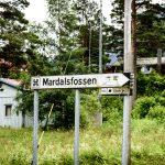Mardalsfossen-sign