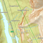 Brurasloret on map, Styggefona