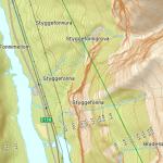 Brurasloret on map, Styggefona