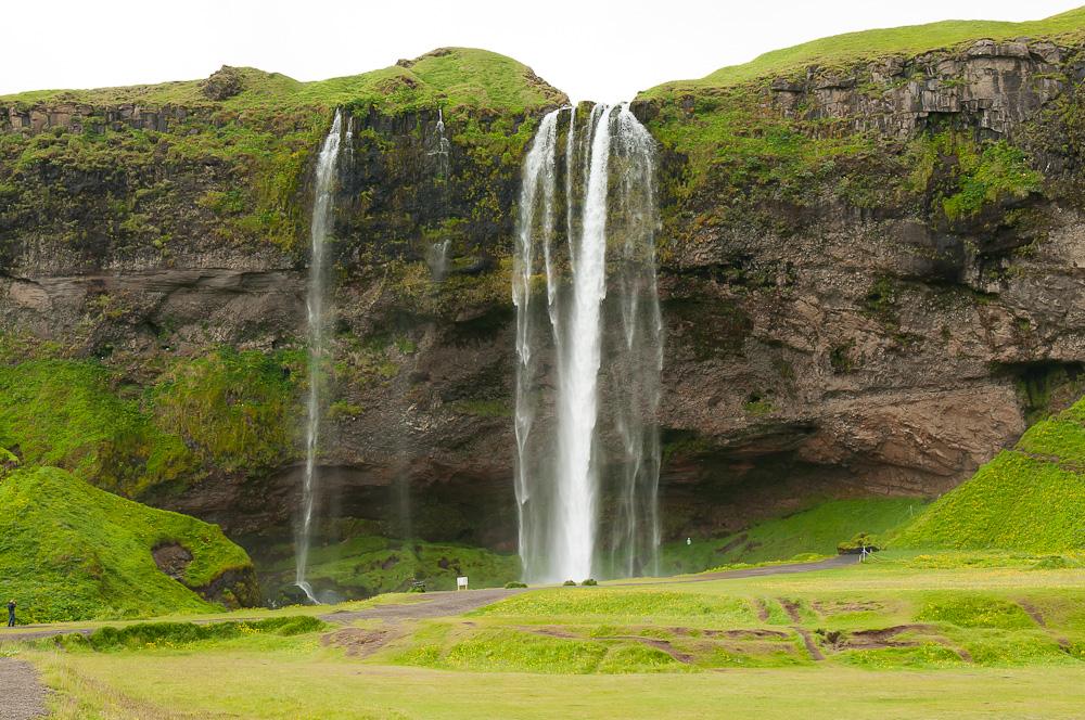 Waterfall in Iceland: Seljalandsfoss
