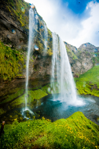 Waterfall in Iceland: Seljalandsfoss