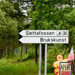 Slettafossen-sign