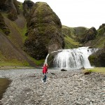 Waterfall in Iceland: Stjornarfoss
