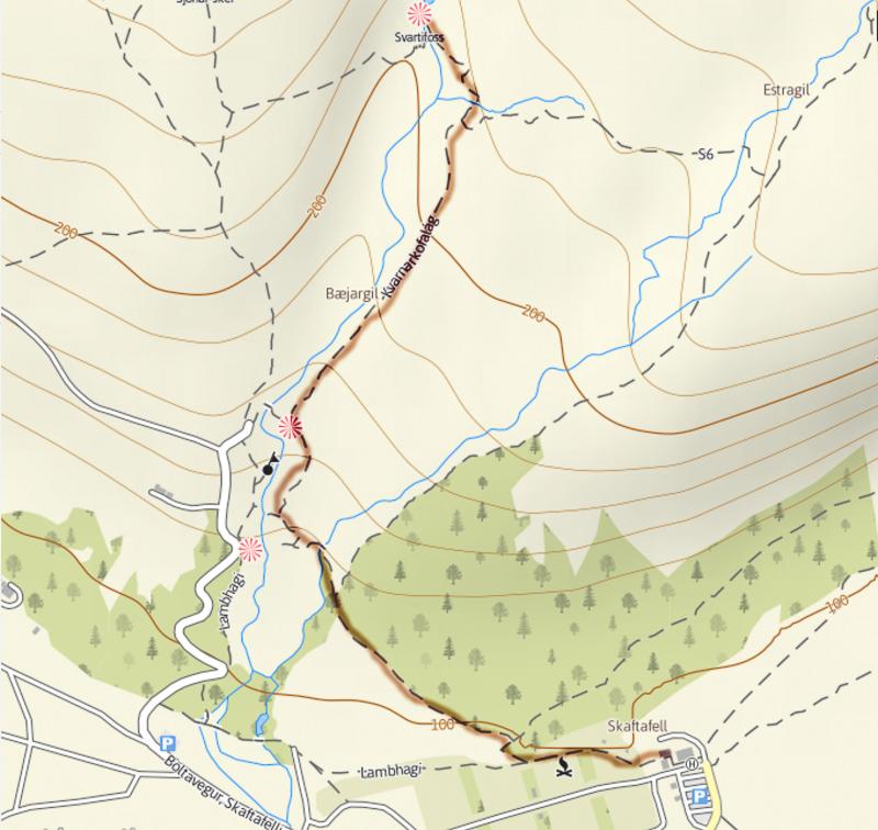 Svartifoss-trail Skaftafell