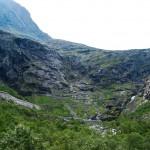 Waterfall in Norway: Trollfossen