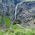Waterfall in Norway: Trollfossen