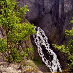 Waterfall in Norway: Valursfossen