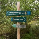 Veslulfossen-hiking-sign