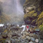 Waterfall in Norway: Vettisfossen