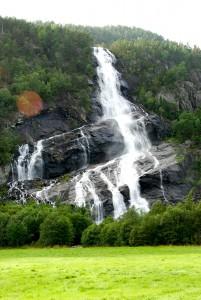Waterfall in Norway: Vidfossen (Hildalsfossen-Vefoss-Schrägfoss)