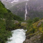 Waterfall in Norway: Volefossen