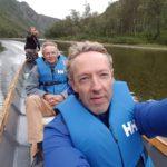 Boat trip Reisadalen: Mollisfossen and Dissaltakfossen